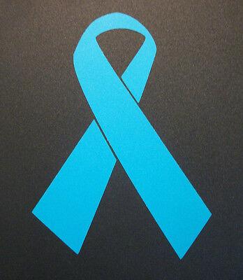 Ovarian Cancer Awareness Ribbon Qty 2 Teal Vinyl Sticker Decal 3 X2