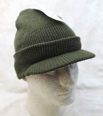GENUINE US ARMY OD GREEN WOOL JEEP CAP RADAR HAT MILITARY ISSUE - USA -
