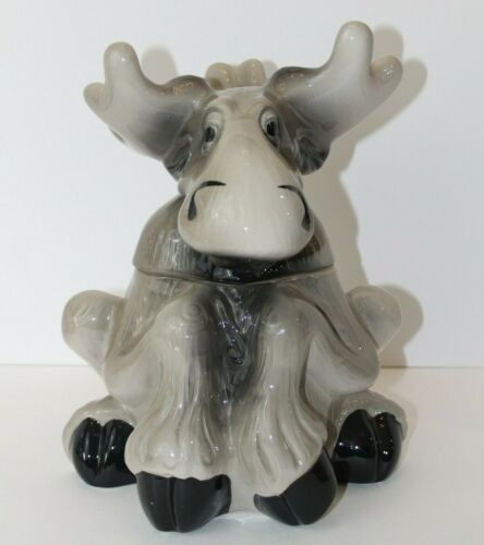Bearfoots Tabletop Moose Cookie Jar by Phyllis Driscoll