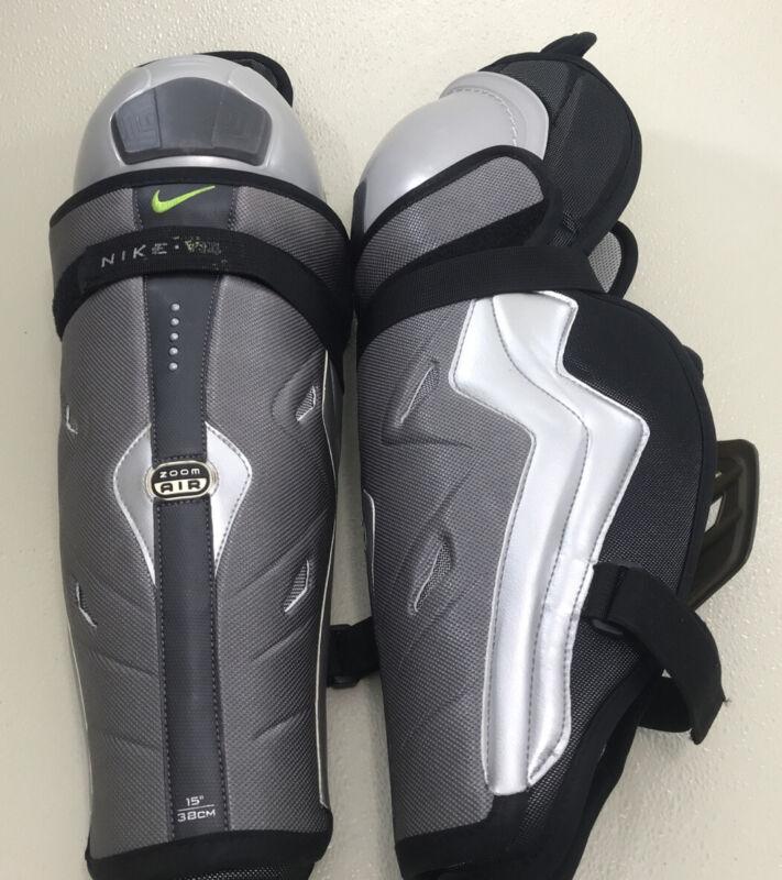 "NEW Nike V-14 Zoom Air Hockey Shin Guards Senior 15"" 38cm"