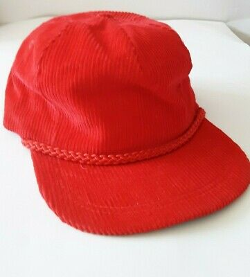 Vintage Red Courdary Baseball hat with no advertising