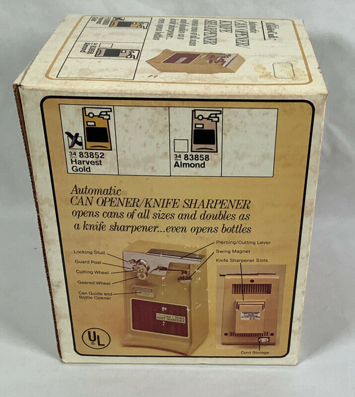 NOS Vintage Electric SEARS Counter Craft Power Can Opener/Knife Sharpener