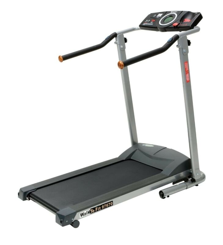 Exerpeutic Treadmill 1020 H Handles With Control Panels On/ Off Speed Up/Down