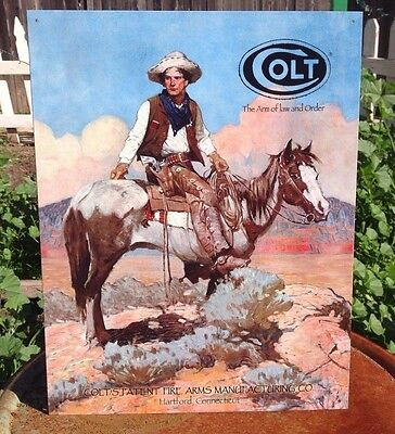COLT ARM OF LAW AND ORDER Gun Classic Tin Sign Wall Bar Decor Garage Classic