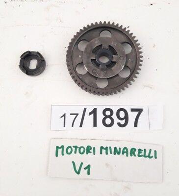 gearwheel engine minarelli V1 50cc shaft sprocket gear for sale  Shipping to United Kingdom