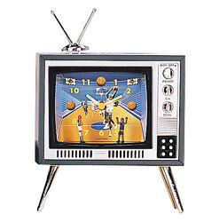 TV BASKETBALL SPORT STYLE TELEVISION NOVELTY ALARM CLOCK DESK CLOCK