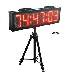 8 Large Outdoor Double Sided LED Race Clock Countdown Count Up Sport Timer