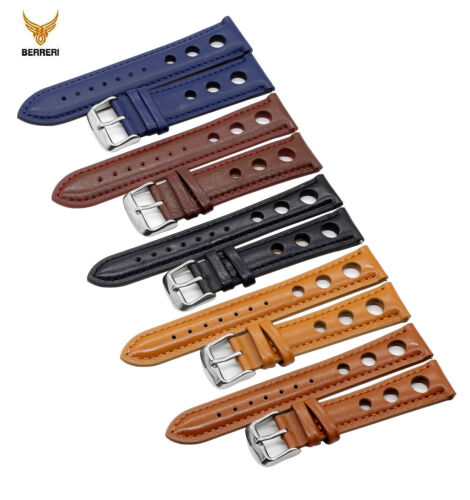 Genuine Leather Watch Strap Handmade Vintage Thick Band 18mm 20mm 22mm 24mm Us