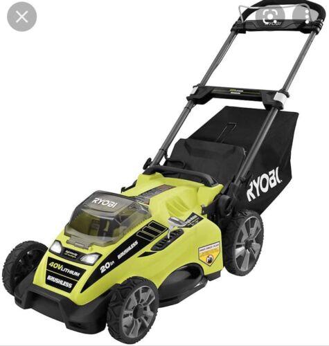 """Ryobi RY401120-Y 40V 20"""" Brushless Self-Propelled Lawn Mower"""