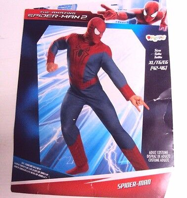 The Amazing Spider Man 2 Halloween Costume (Disguise Men The Amazing Spider-Man 2 Jumpsuit & Mask Costume Halloween 72042)