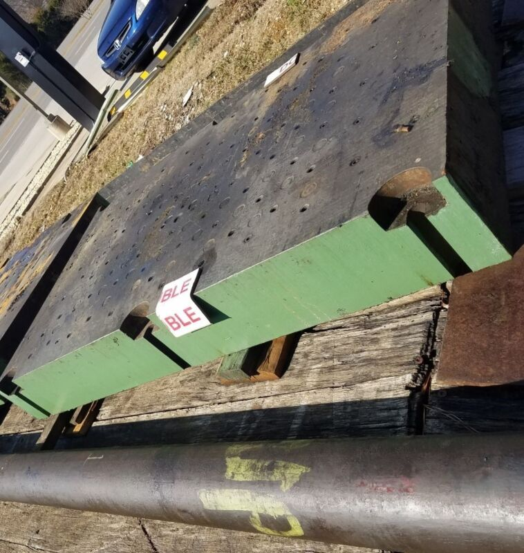 """7-3/4"""" Thick Steel Plate 60"""" Long x 36.75"""" Wide Drilled and Tapped Welding Table"""
