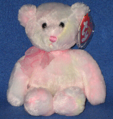 TY FAUNA the PINK BEAR BEANIE BABY - MINT with MINT TAG