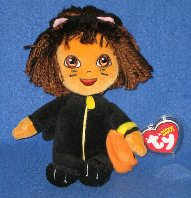 TY DORA the EXPLORER (CAT COSTUME) BEANIE BABY - MINT with MINT TAGS - Ty Costume