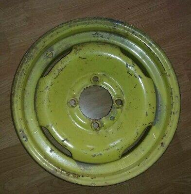 Vintage John Deere Tractor 15 X 4j Pressed Steel Rare 4 Bolt Rim Wheel
