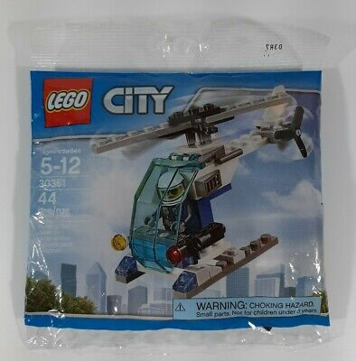 LEGO City Police Helicopter Set #30351 44 Pieces ~ BRAND NEW/FACTORY SEALED!