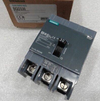 Bqd330 Siemens Circuit Breaker 3 Pole 30 Amp 480v New In Box