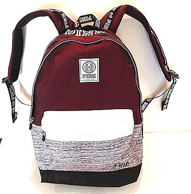 VICTORIA SECRET~PINK CAMPUS BACKPACK BAG ~BLACK ORCHID BURGUNDY ...