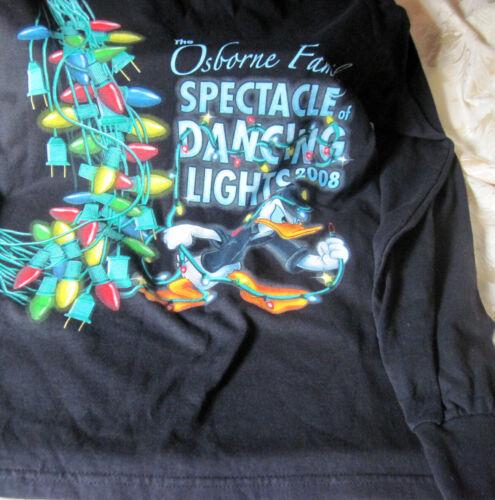 Disney Spectacle of Lights Black Tee Shirt Donald Duck Large Cast Lighting Crew