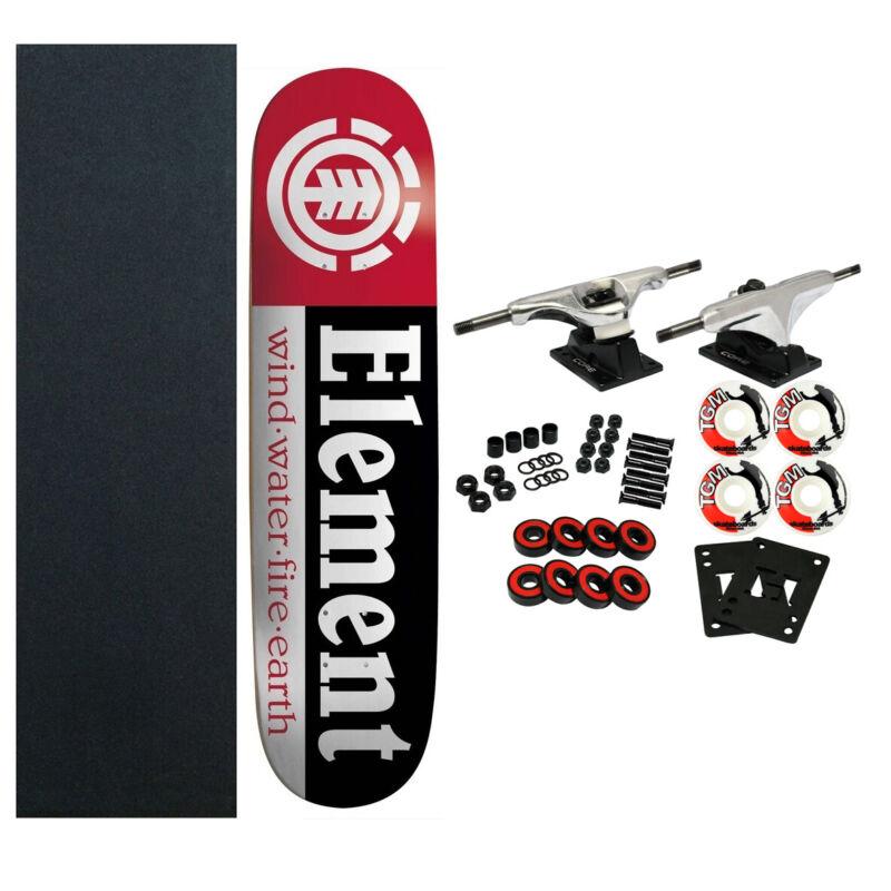 ELEMENT Skateboards SECTION Complete SKATEBOARD Black Raw Trucks 52mm Wheels