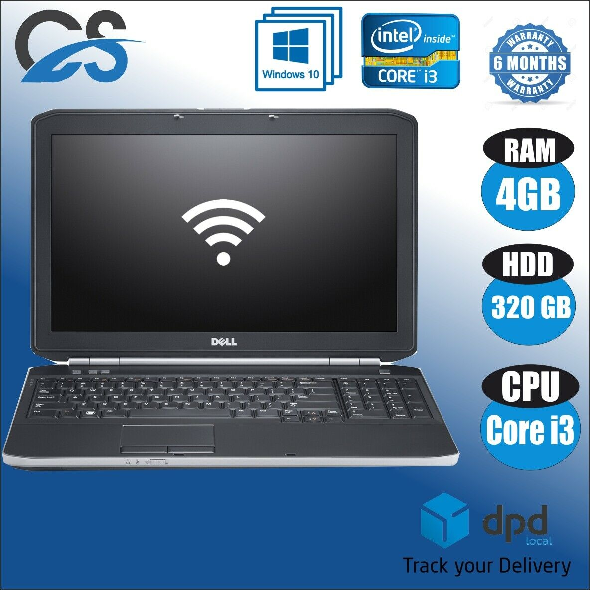 "Laptop Windows - FAST DELL LATITUDE E5530 i3-2348M 2.30GHz 4GB 320GB HDD 15.6"" WINDOWS 10 PRO"
