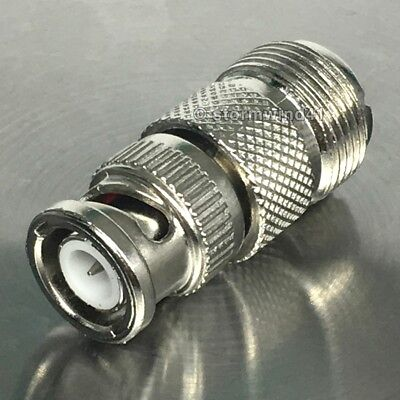 UHF female / BNC male - coax adapter to convert cable connector plug *USA (Coax Cable Bnc Plug)