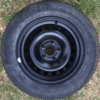 Holden Astra AH spare wheel + near new Good Year tyre 195 65 R15