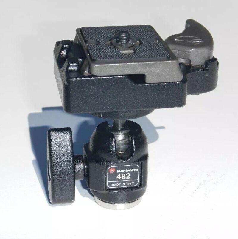 """Manfrotto Mini Ball Head w/ Genuine 323 Quick Release Clamp • 1/4""""-20 Adapter"""
