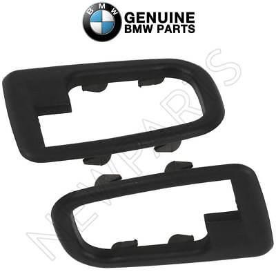 For BMW E36 325i M3 Z3 Pair Set Of 2 Inner Door Handle Trim Covers Black Genuine 1995 Bmw 325i Door
