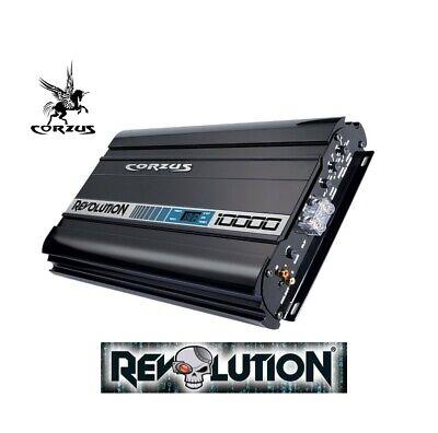 NEW! CORZUS REVOLUTION MD10000 10K W RMS 1 Ch 1 OHM WORKS w/ LESS 10 V Amp w DSP comprar usado  Enviando para Brazil