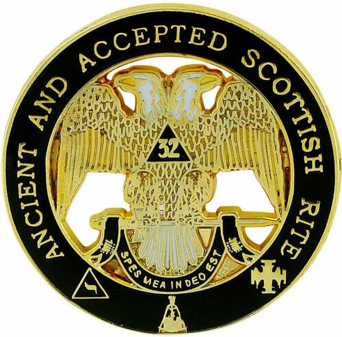 Masonic Large Scottish Rite 32 32nd Degree Lapel Pin