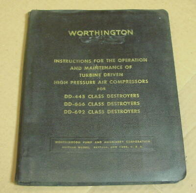 Operation Maintenance Of Worthington Turbine Driven Air Compressors 1940s