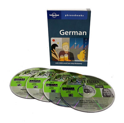 Learn to Speak German Language (4 Audio CD Set w/Phrasebook) listen in your car!