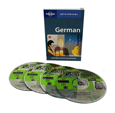 Learn to Speak German Language (4 Audio CD Set w/Phrasebook) listen in your car!