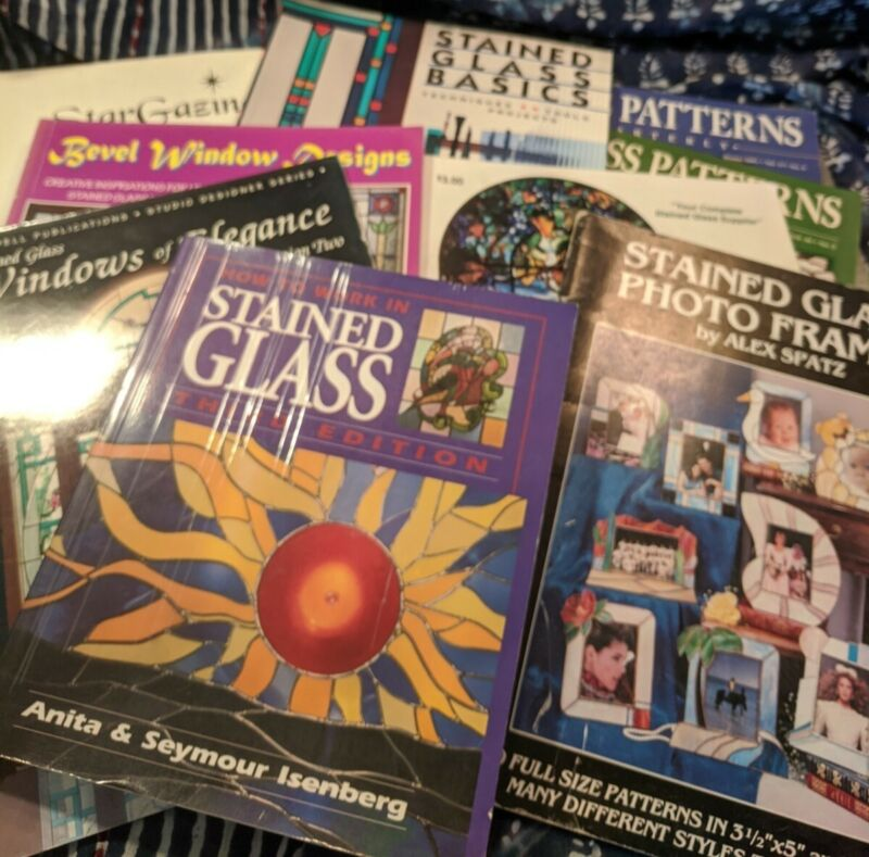 Lot of 9 Stained Glass Books