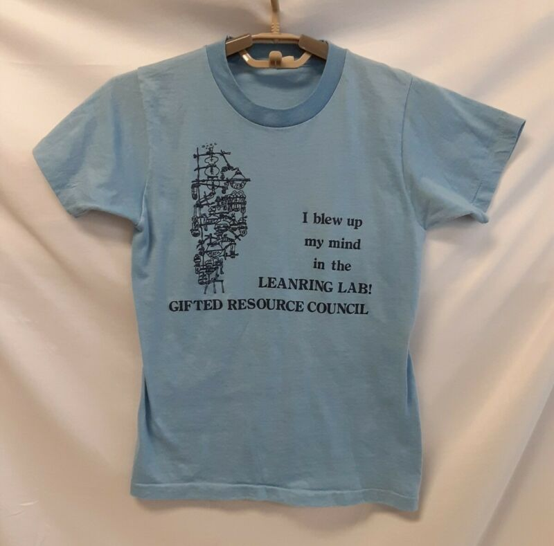 Retro SCREEN STARS Vintage 80s Kids YOUTH T-SHIRT 14-16 GIFTED RESOURCE COUNCIL