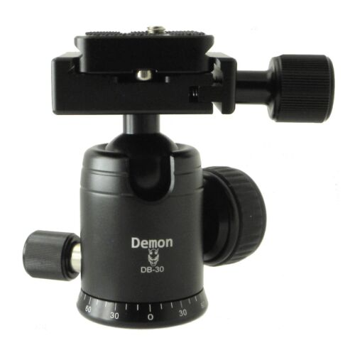 Demon DB-30 30mm Mini Monopod Ball Head Arca Compatible Pan Lock & QR Plate NEW