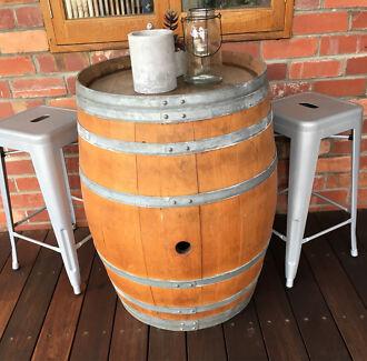 Wine Barrel & Stools