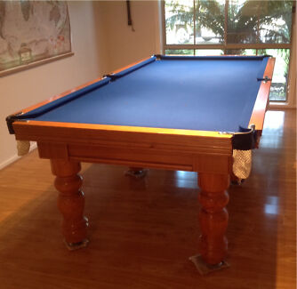 """Pool Table 8', 3/4"""" 1piece Slate with Accessories, Immaculate Rowville Knox Area Preview"""