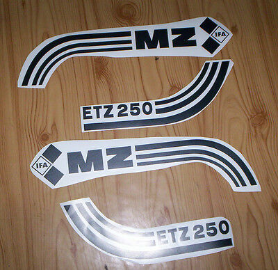 ETZ,ETZ 250,MZ,Aufkleber,Aufklebersatz,Aufkleberset,Tank,Seitendeckel,Oldtimer,,