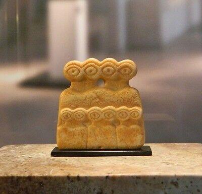 Antikes AUGENIDOL, ca. 3300 v. Chr. - aus Tell Brak, Syrien