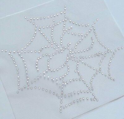Crystal Spider Web Appliqué, Spider Web Rhinestone Iron on, DIY Halloween Bling](Diy Spider Web Halloween)