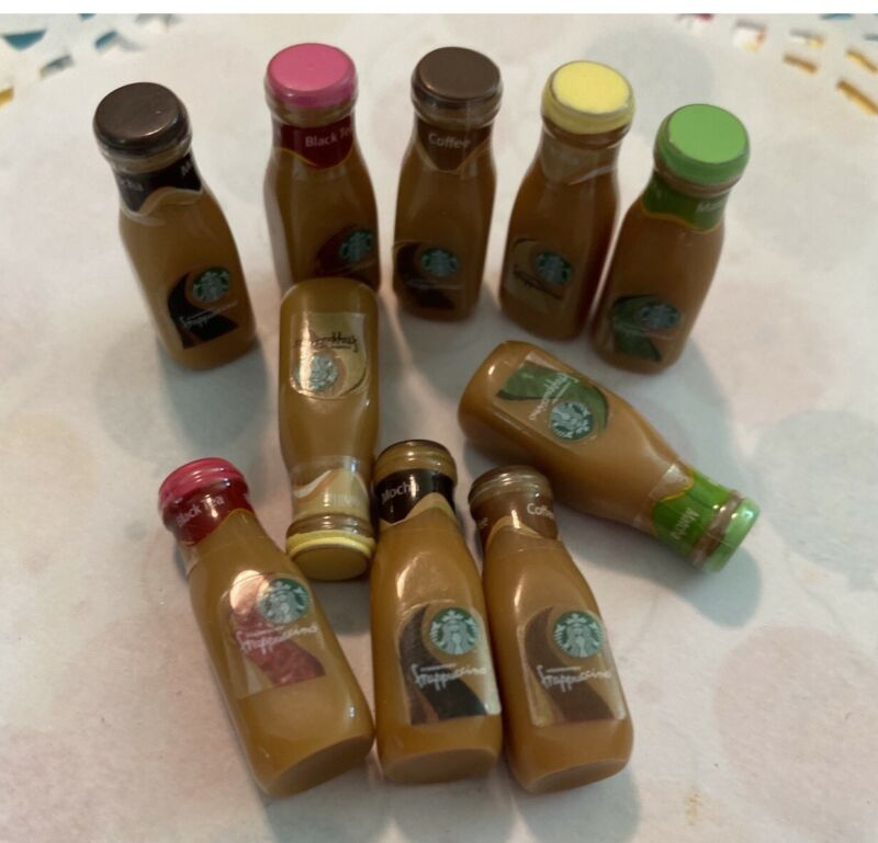 3D Resin Starbucks Coffee Bottles Cabochons Charms