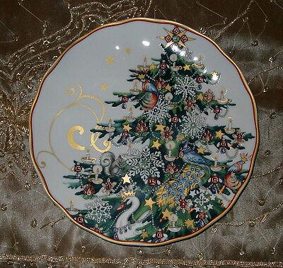 Williams Sonoma Twas The Night Before Christmas Tree   4 Salad Desert  Plates