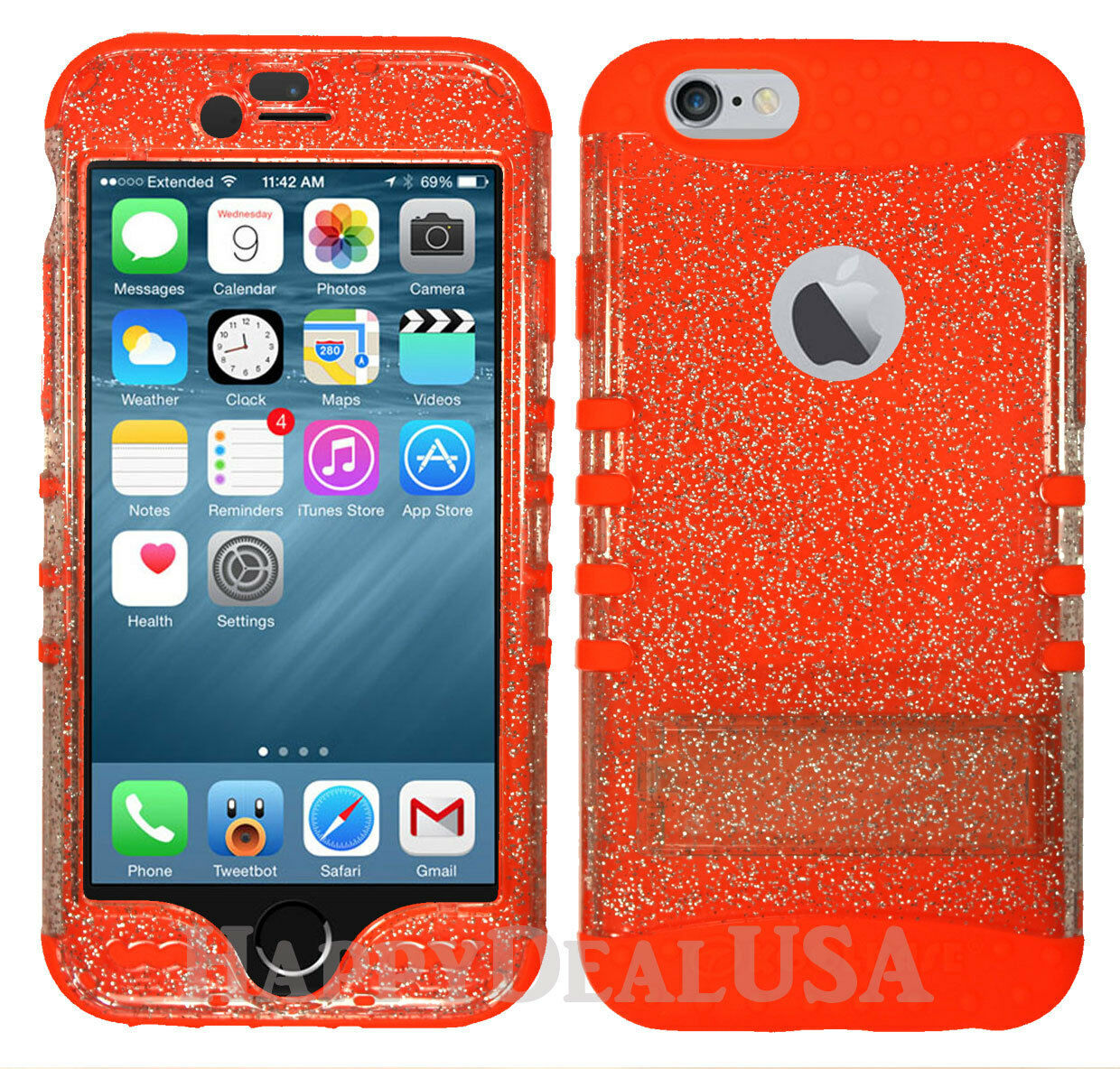 GLITTER Armor Shock Proof Impact Hybrid Soft Hard Cover Case for Cell Phone