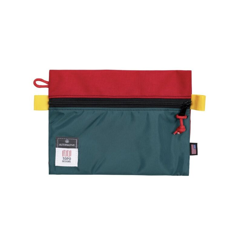 RED & TEAL Topo Designs Medium Accessory Bag - NWT - Sold Out - $19 Retail