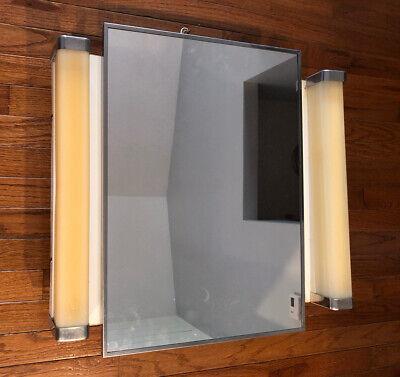 Vintage LAWSON Metal Medicine Cabinet Mirror Bathroom w/ 2 glass shelves 4123-14