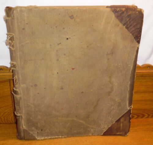 Antique 1890-1906 Ledger Journal Book - LEASES - Philadelphia PA & Surrounding