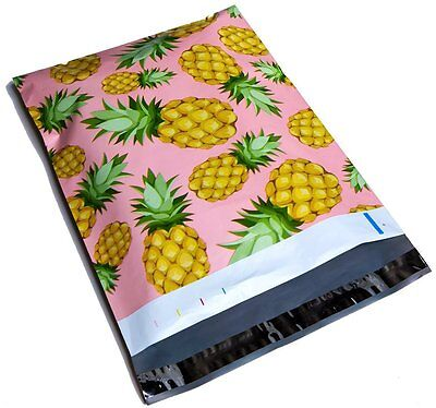 100 10x13 Pineapple Designer Mailers Poly Shipping Envelopes Boutique Bags