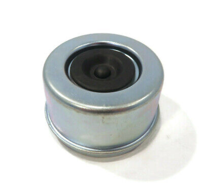 """Metal Grease Cap, 2.72"""" Diameter, with Rubber Insert for EZ Lube Spindle Axles"""