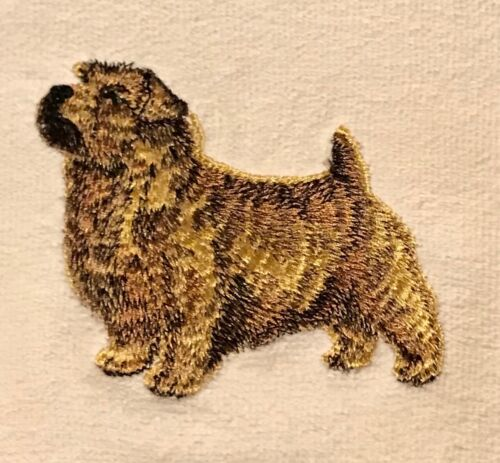 Norfolk Terrier, Hand Towel, Embroidered, Custom, Personalized, Dog